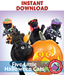 Five Little Halloween Cats Gr. 1-2 - eBook