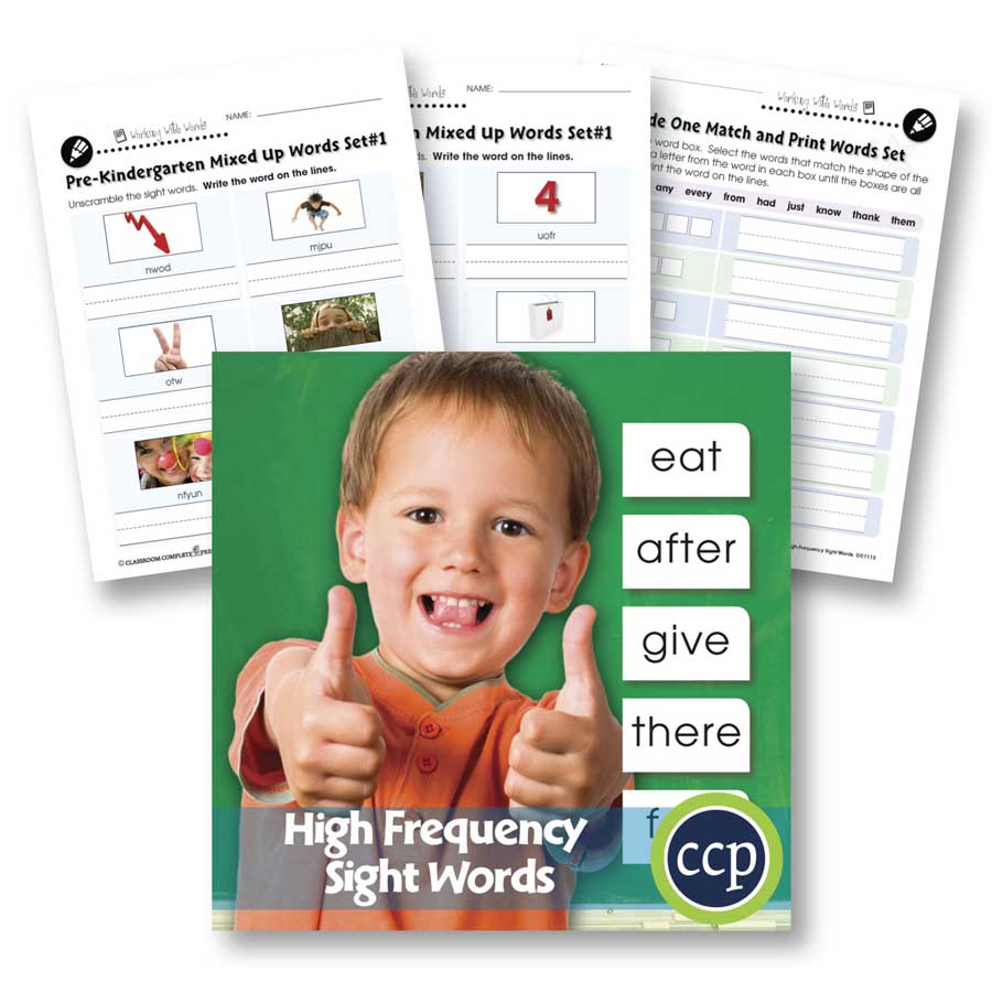 High Frequency Sight Words: Handwriting Practice Gr. PK-2 - WORKSHEETS - eBook