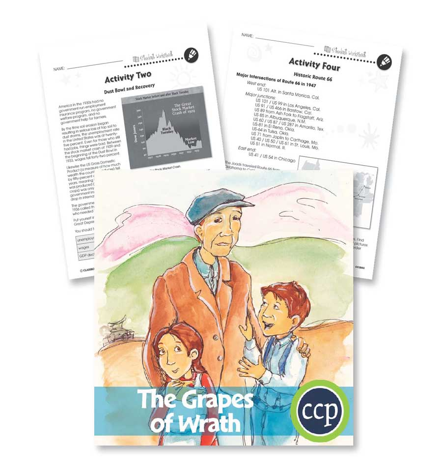 The Grapes of Wrath: Migration & The Great Depression Gr. 9-12 - WORKSHEETS - eBook