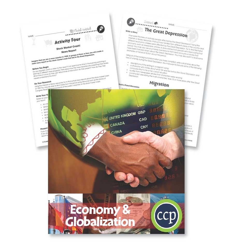 Economy & Globalization: Migration & The Great Depression Gr. 5-8 - WORKSHEETS - eBook