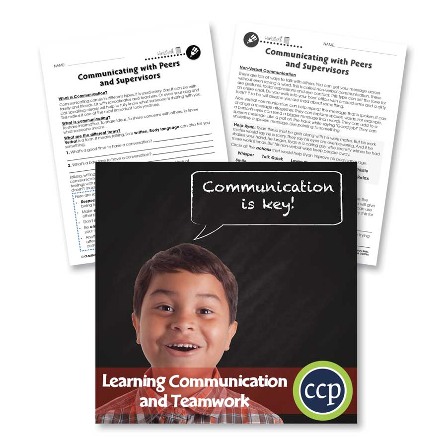 Learning Communication & Teamwork: Building Communication Skills Gr. 3-8+ - WORKSHEETS - eBook