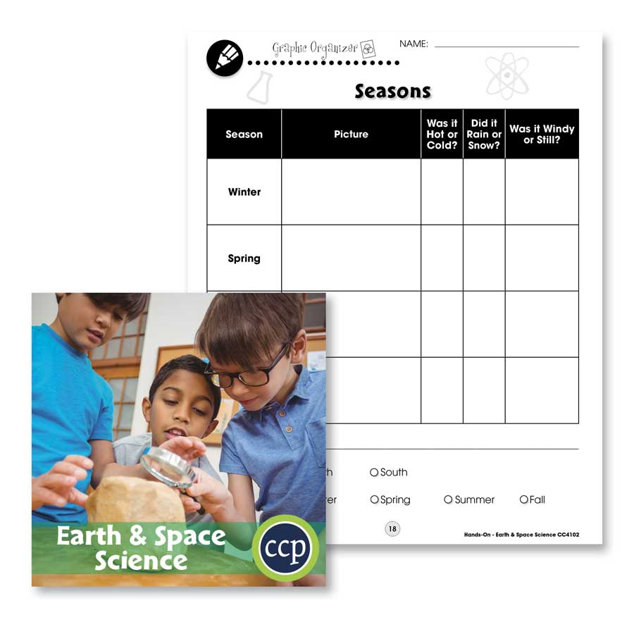 Earth & Space Science: Seasons Graphic Organizer Gr. 1-5 - WORKSHEET - eBook