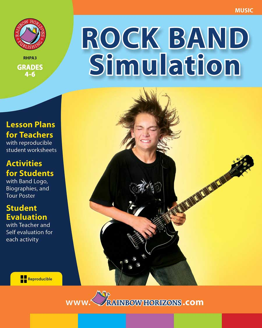 Rock Band Simulation Gr. 4-6 - print book
