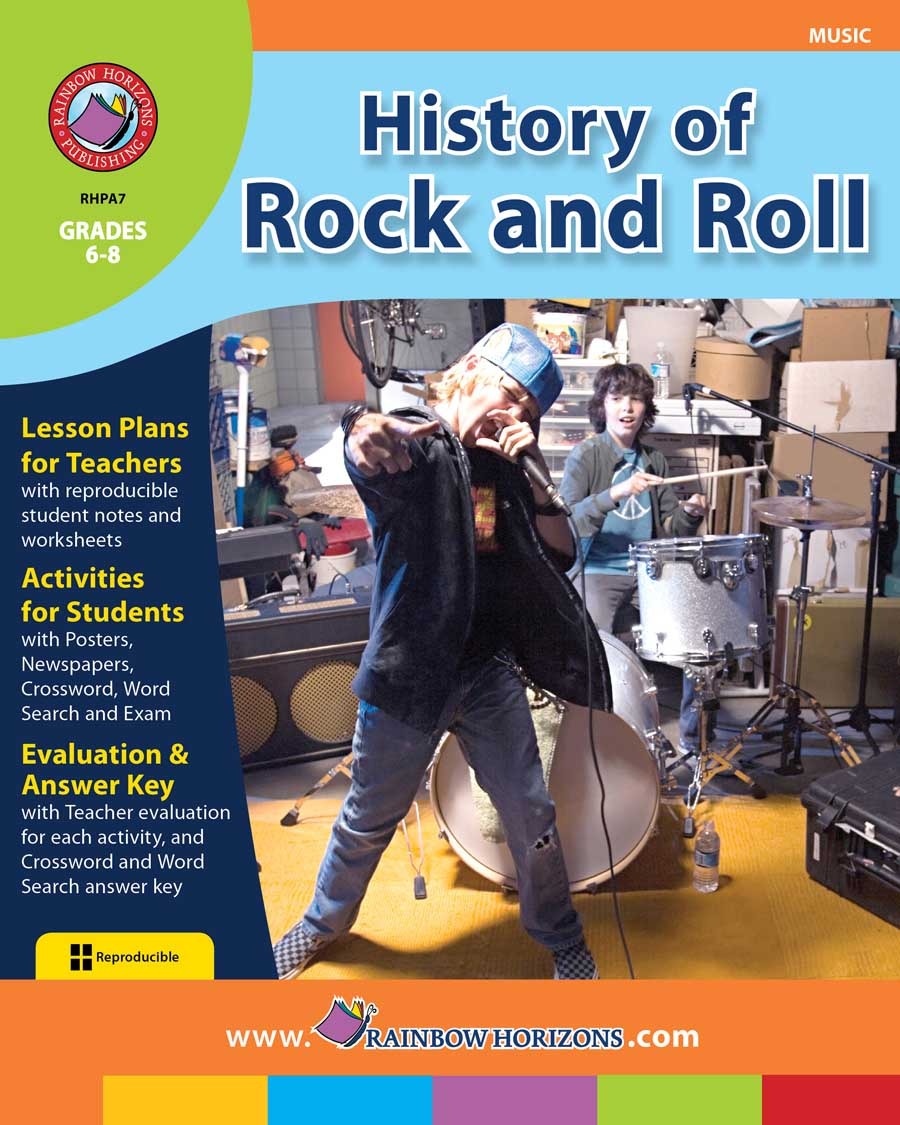 History Of Rock And Roll Gr. 6-8 - print book