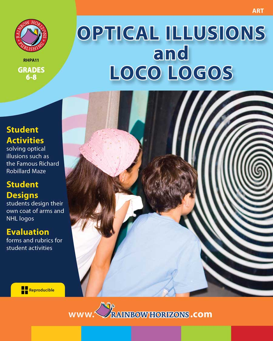 Optical Illusions and Loco Logos Gr. 6-8 - print book