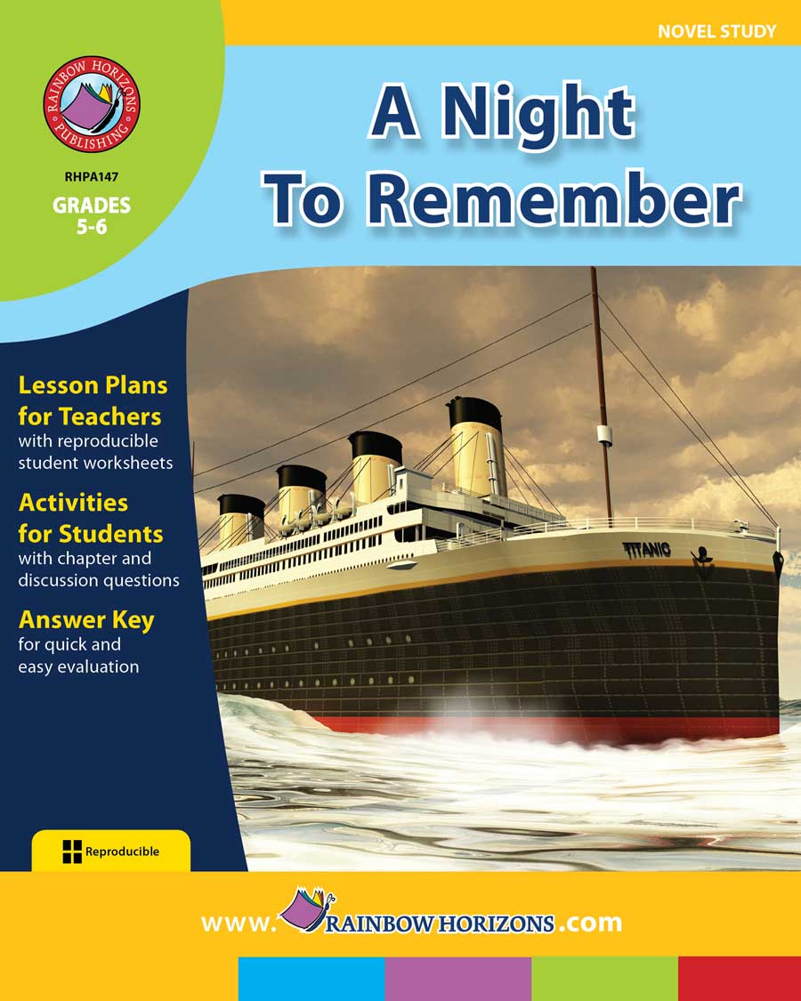 A Night To Remember (Novel Study) Gr. 5-6 - print book