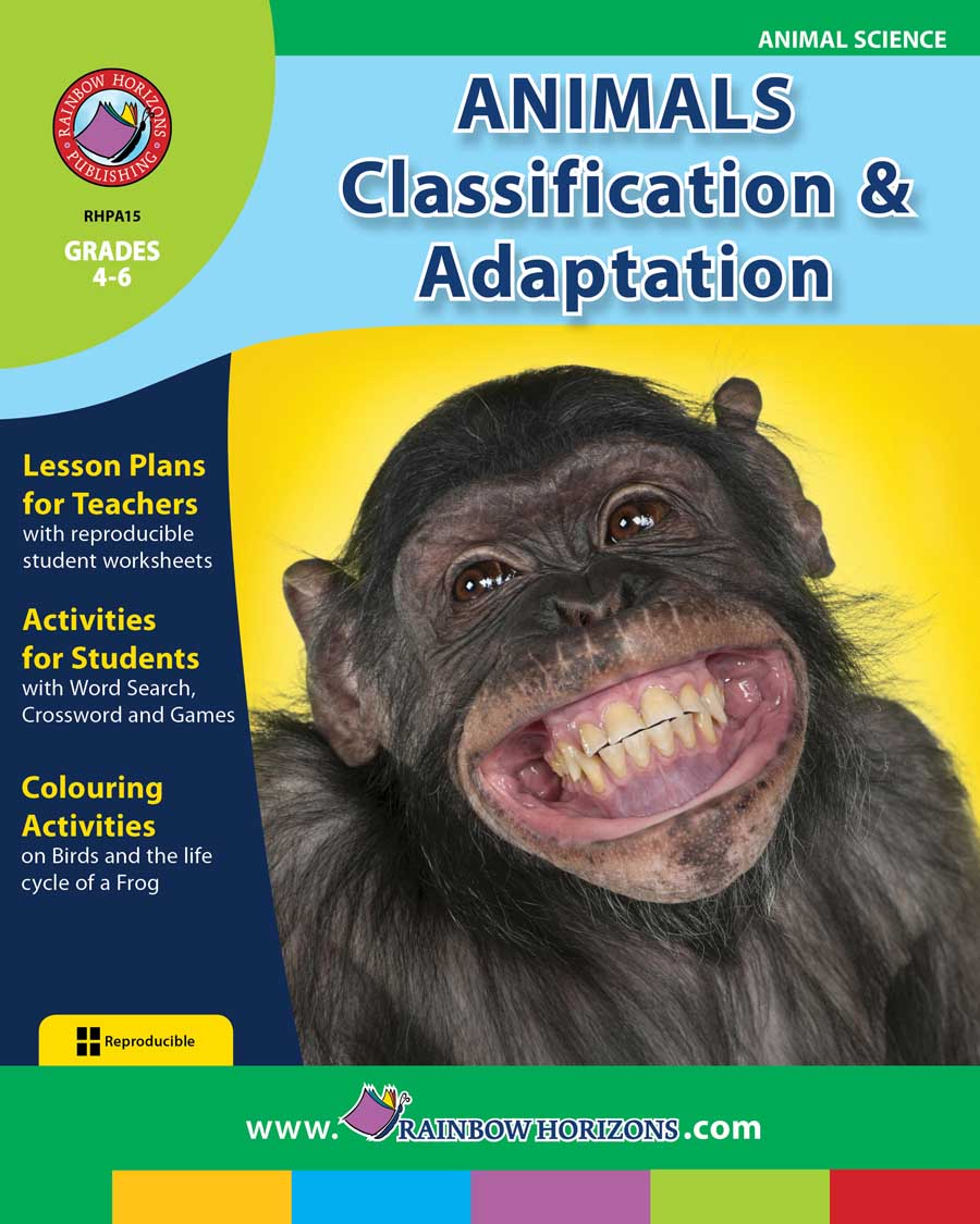 Animals: Classification & Adaptation Gr. 4-6 - print book