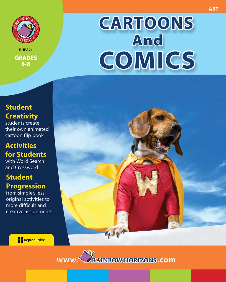 Cartoons And Comics Gr. 6-8 - print book