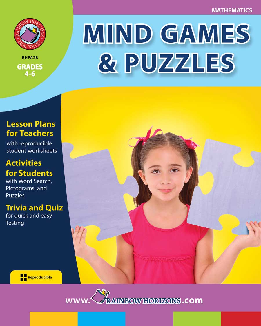 Mind Games & Puzzles Gr. 4-6 - print book