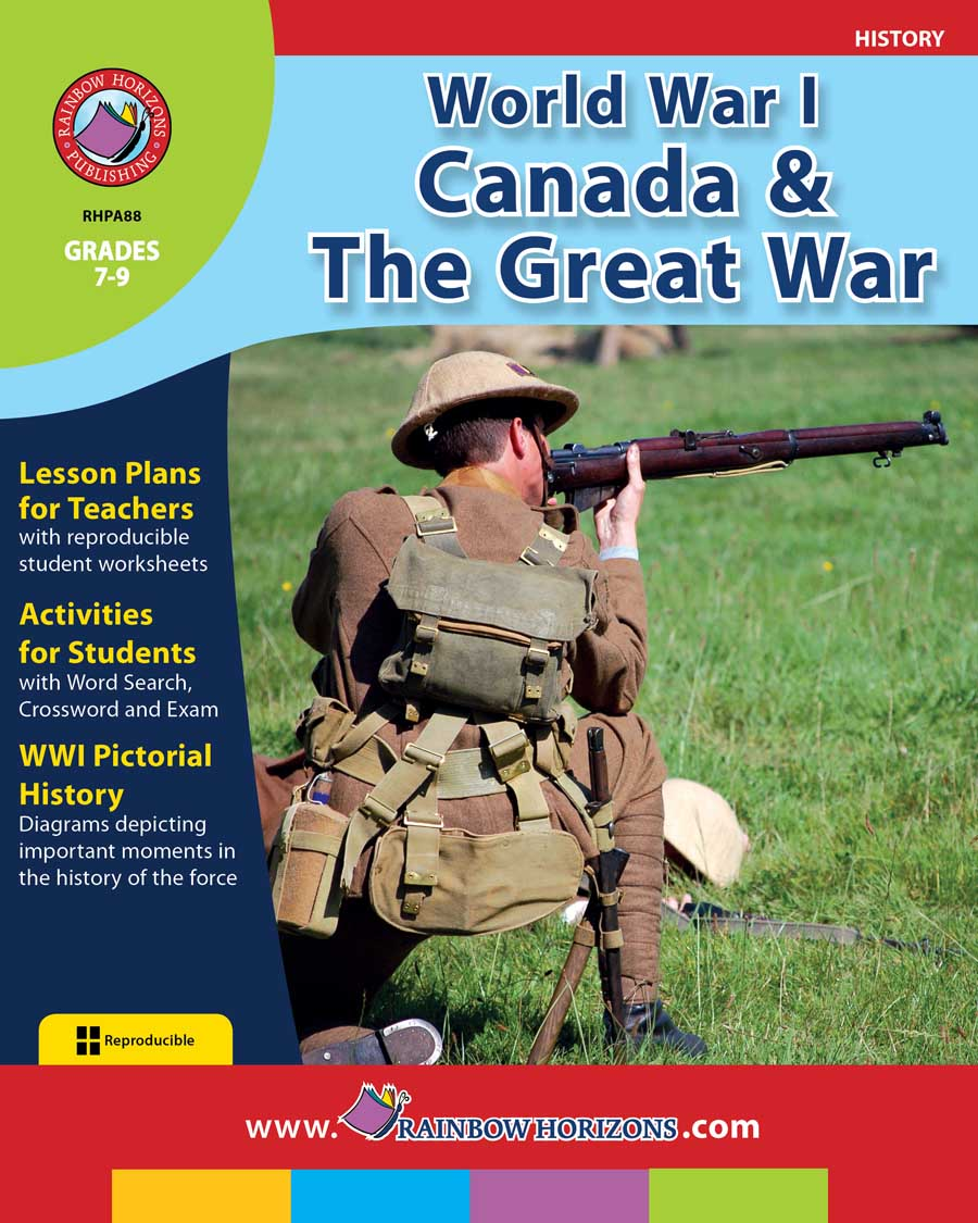 World War I: Canada & The Great War Gr. 7-9 - print book