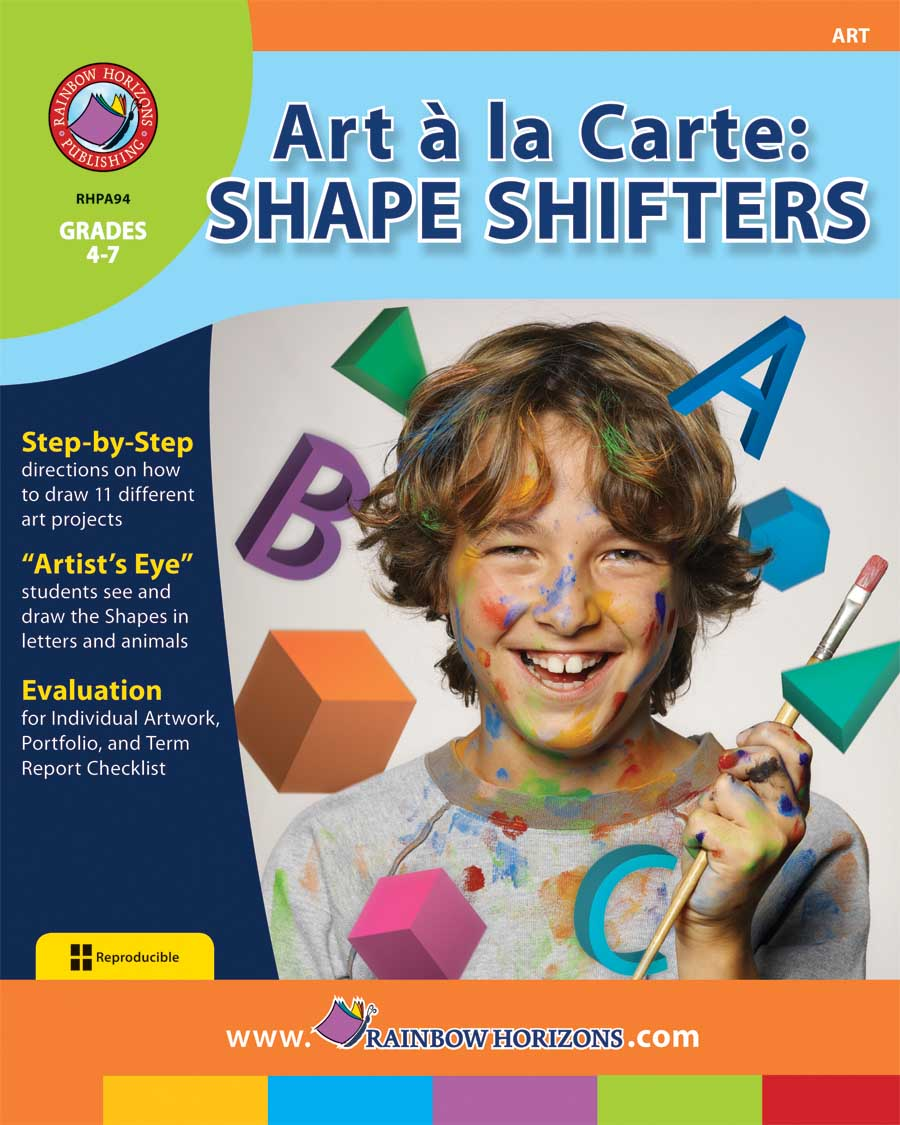 Art A La Carte: Shape Shifters Gr. 4-7 - print book