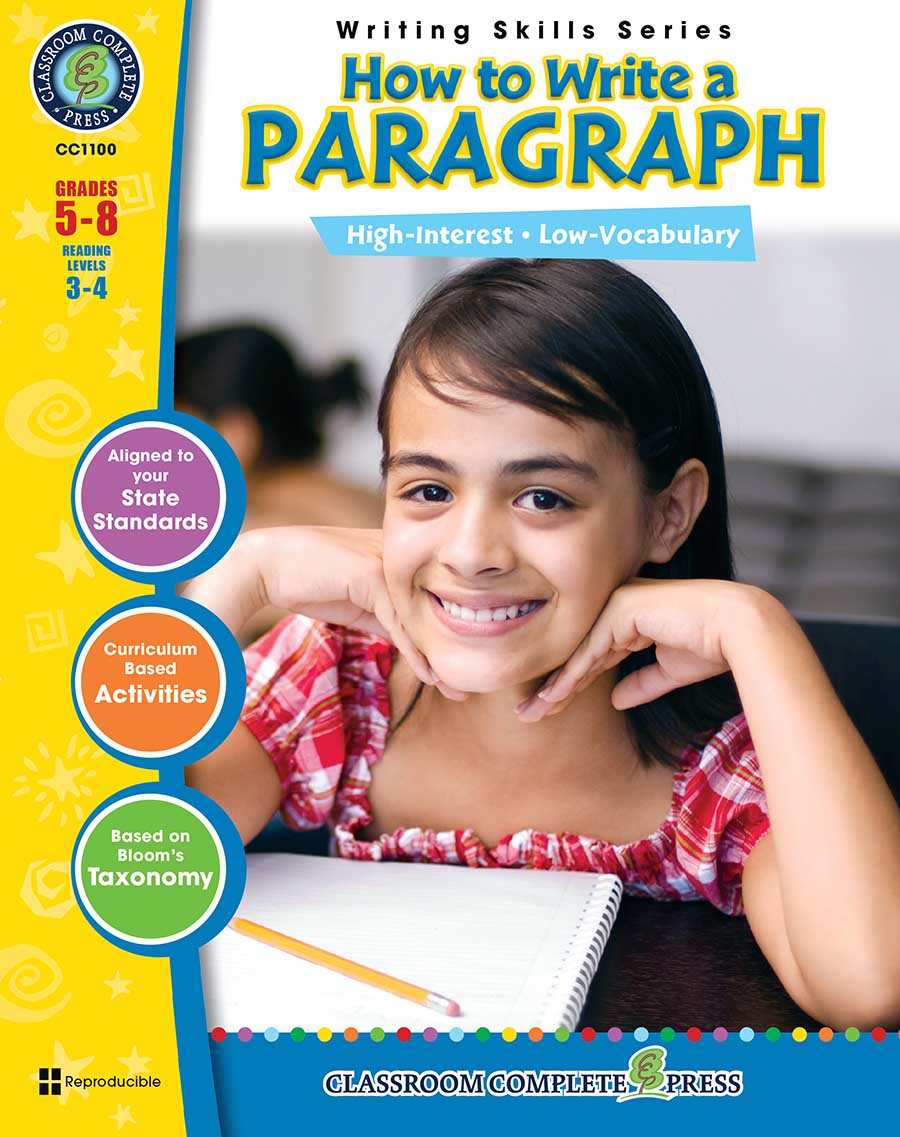 How to Write a Paragraph Gr. 5-8 - print book