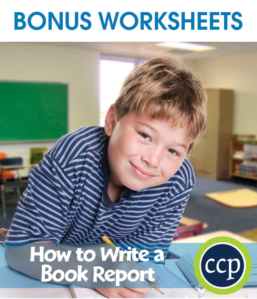 How to Write a Book Report Gr. 5-8 - BONUS WORKSHEETS - eBook