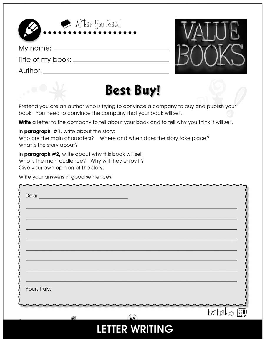 Reading Response Forms Gr. 5-6 - BONUS WORKSHEETS - eBook