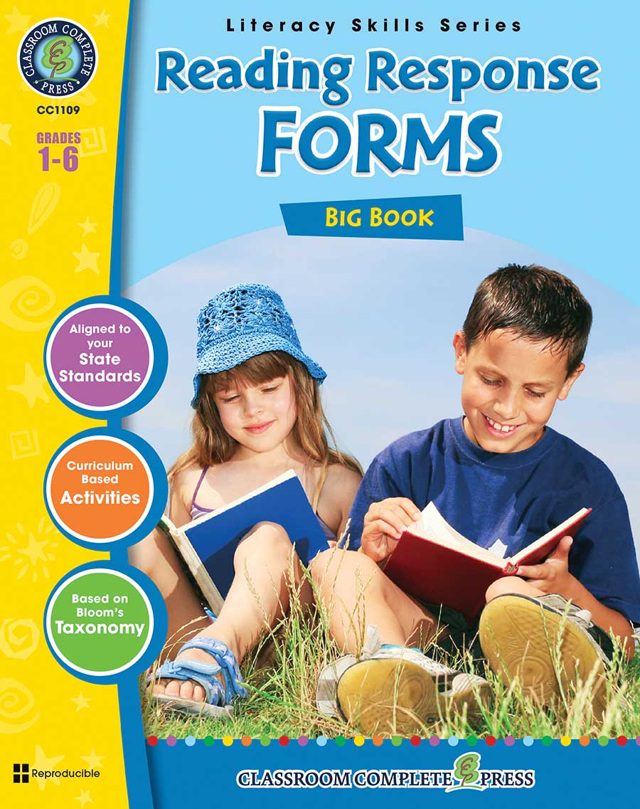 Reading Response Forms Big Book Gr. 1-6 - print book