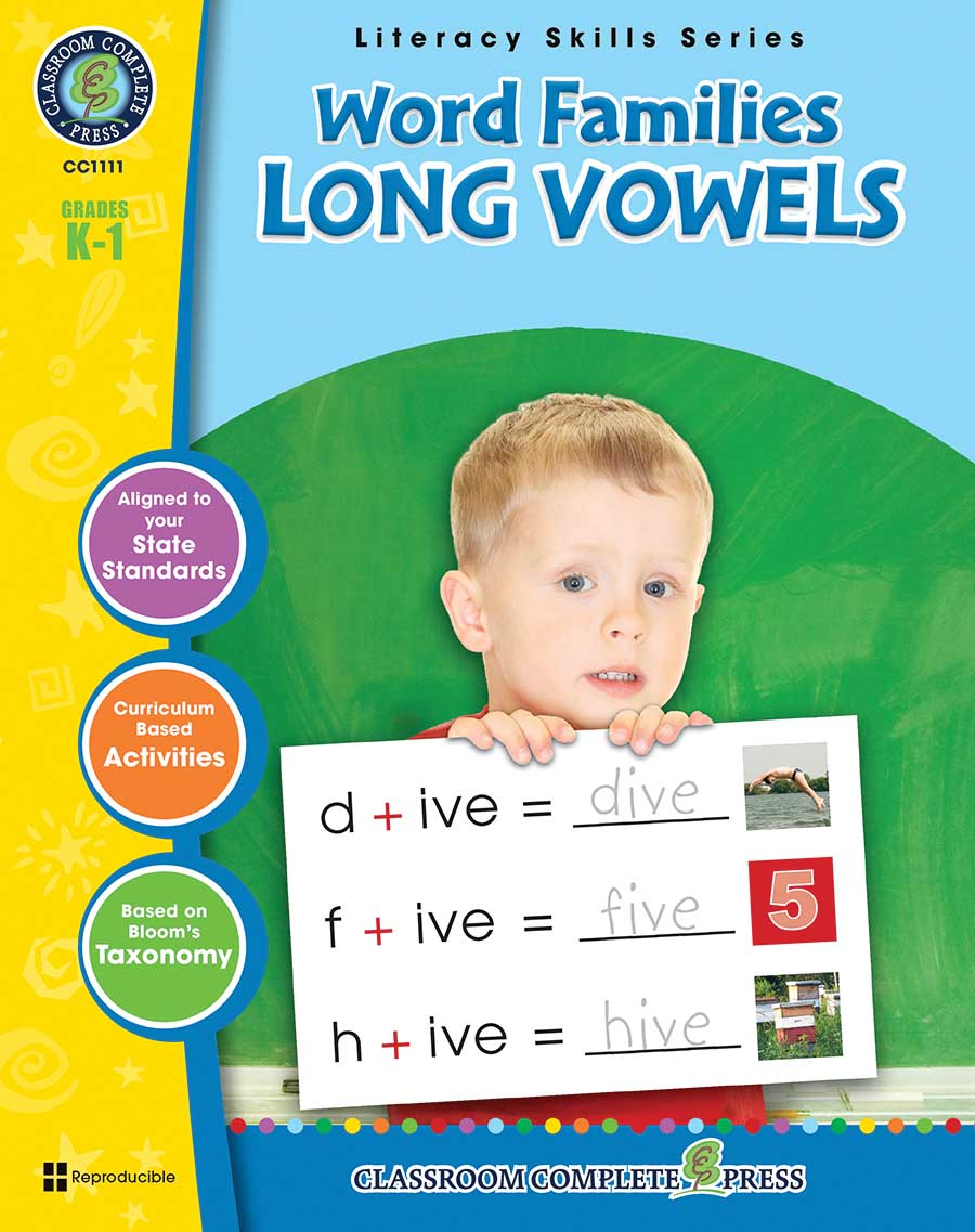 Word Families - Long Vowels Gr. PK-2 - print book