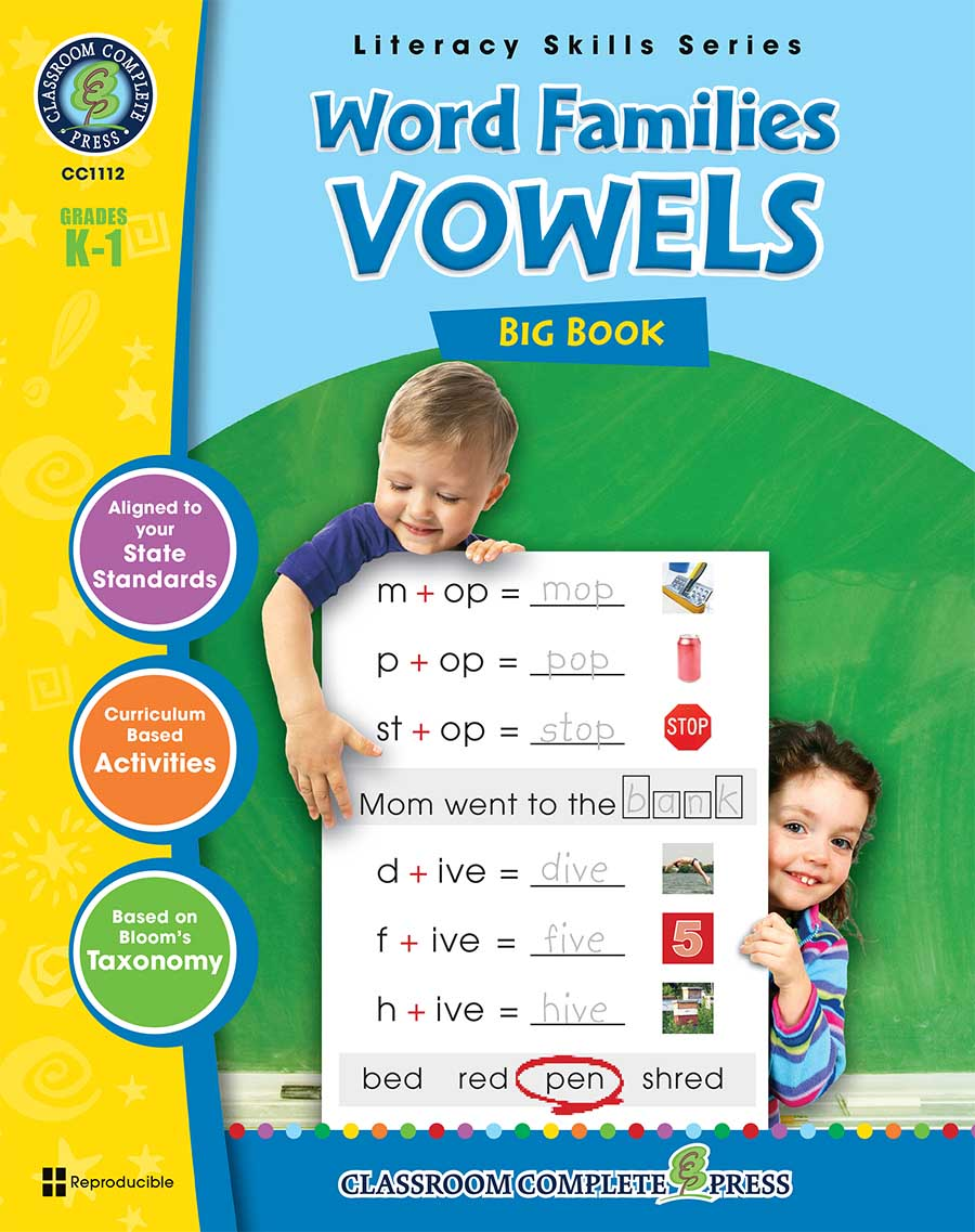 Word Families - Vowels Big Book Gr. PK-2 - print book