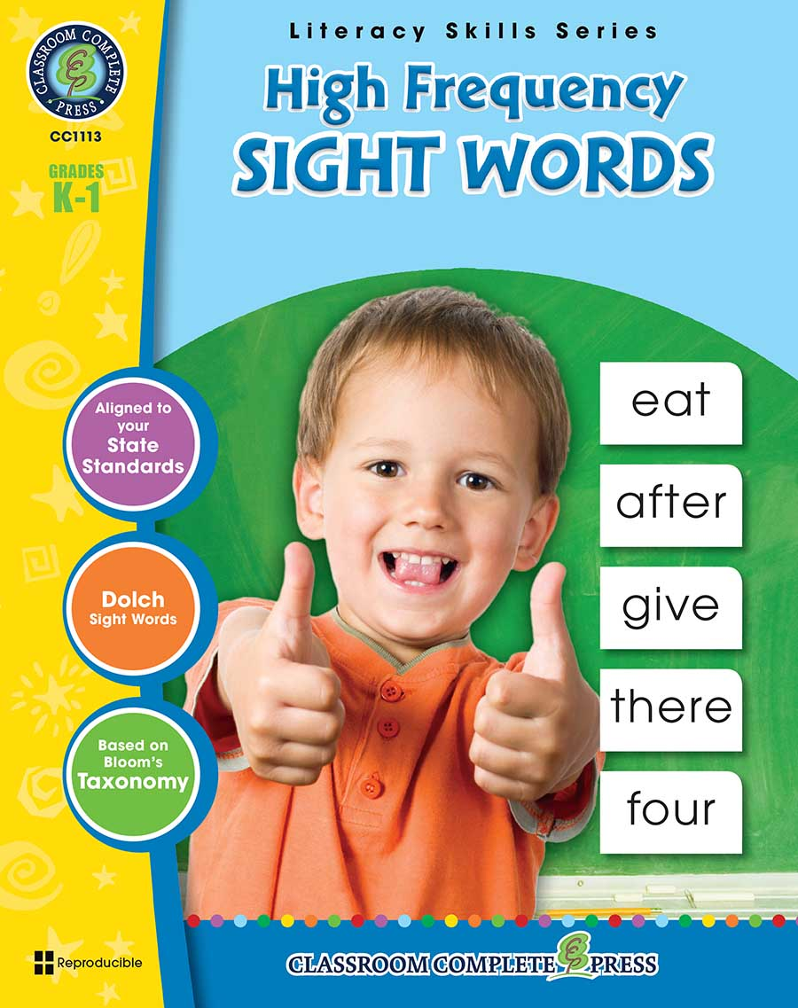 High Frequency Sight Words Gr. PK-2 - print book