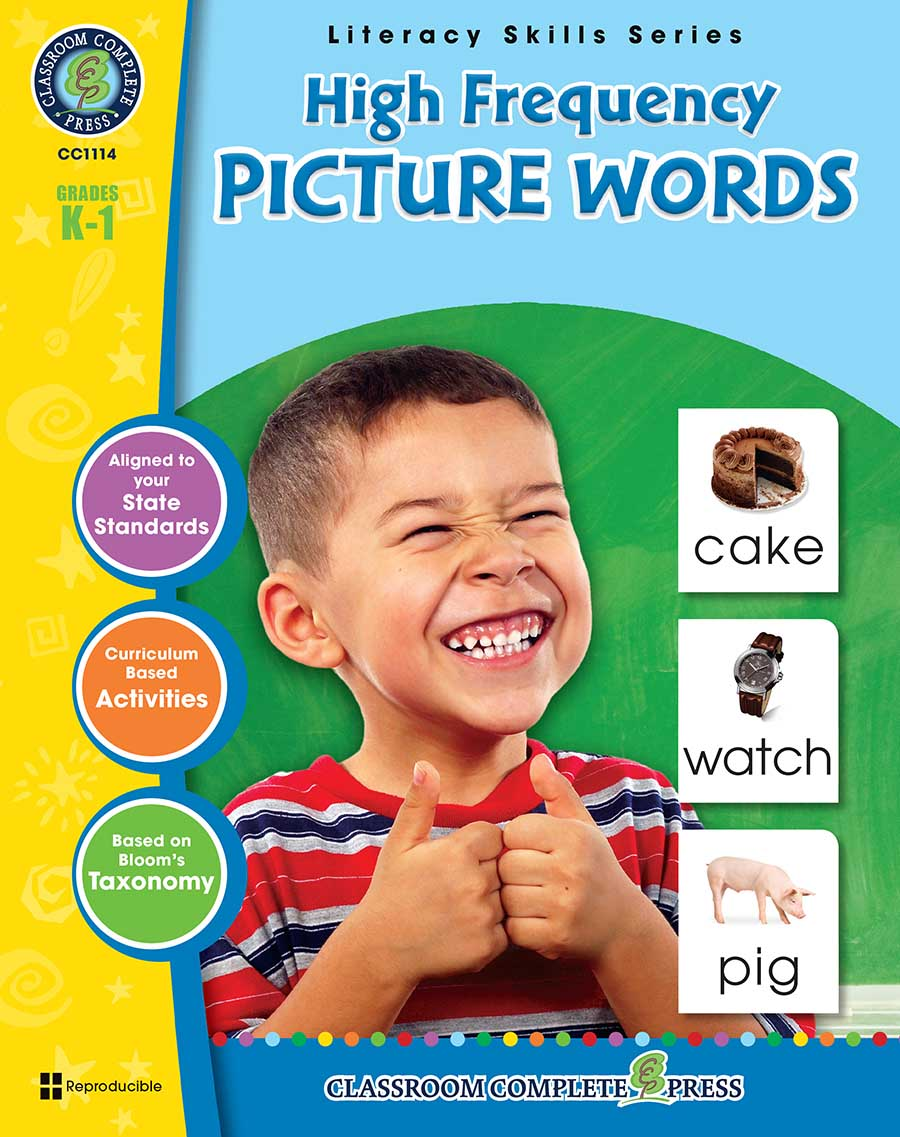 High Frequency Picture Words Gr. PK-2 - print book