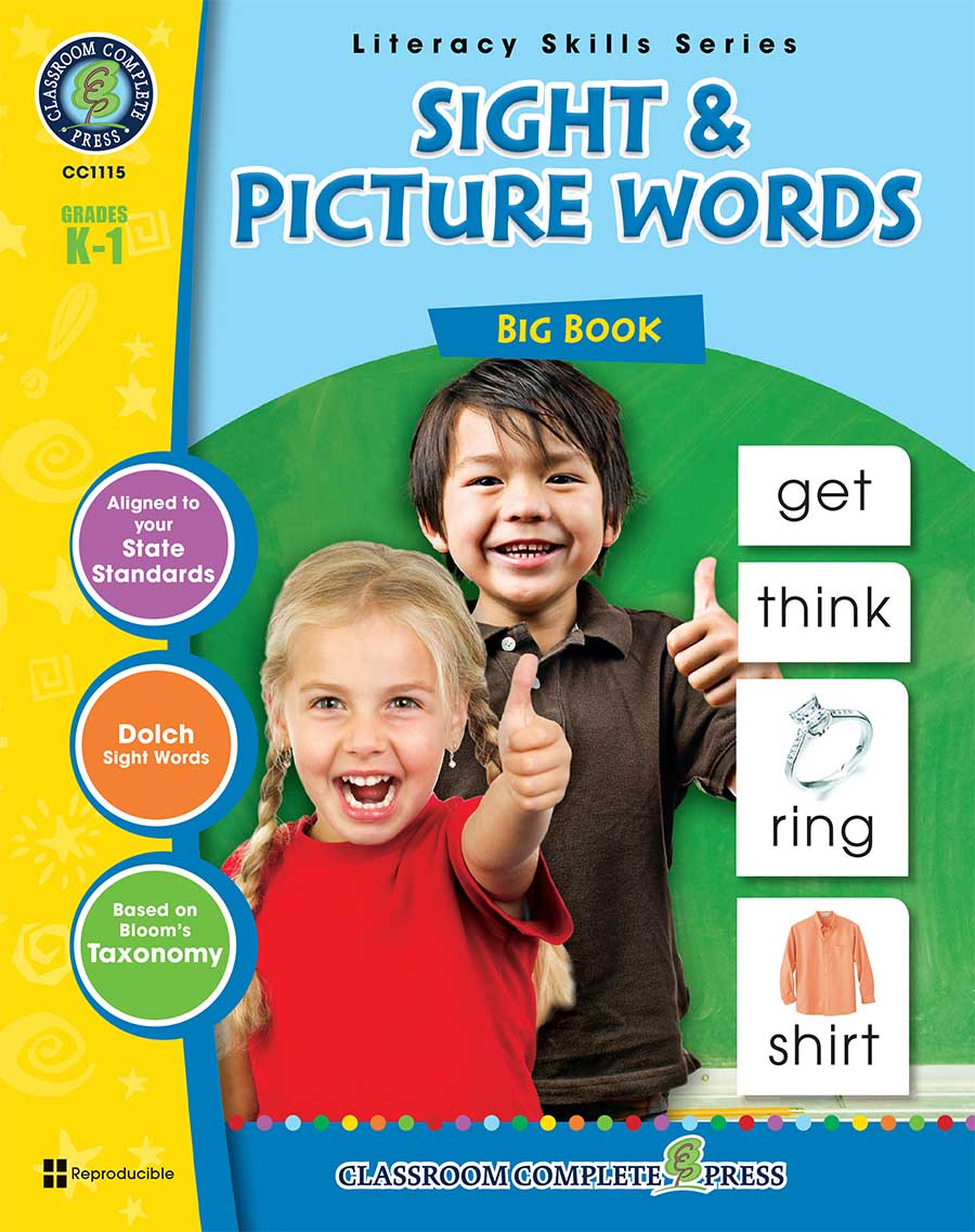 Sight & Picture Words Big Book Gr. PK-2 - print book
