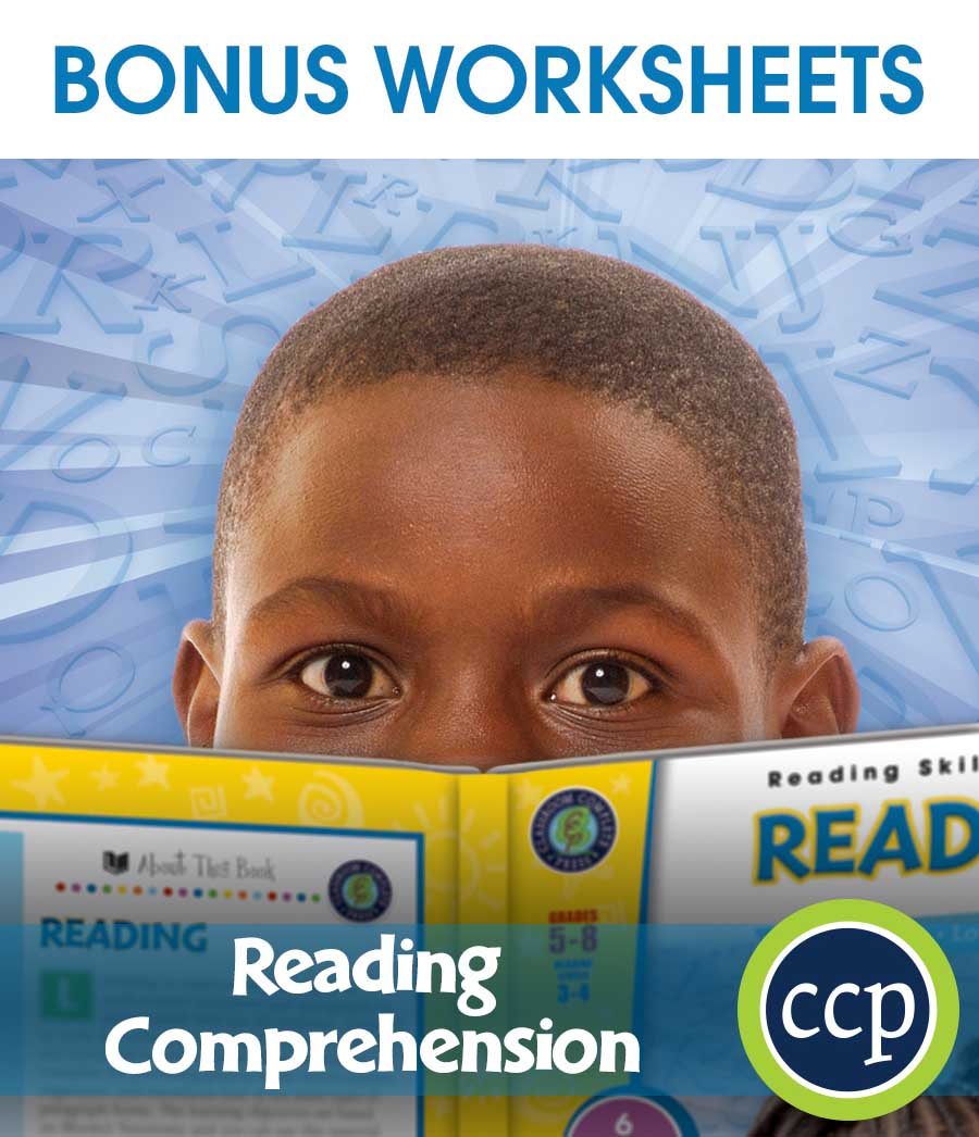 Reading Comprehension Gr. 5-8 - BONUS WORKSHEETS - eBook