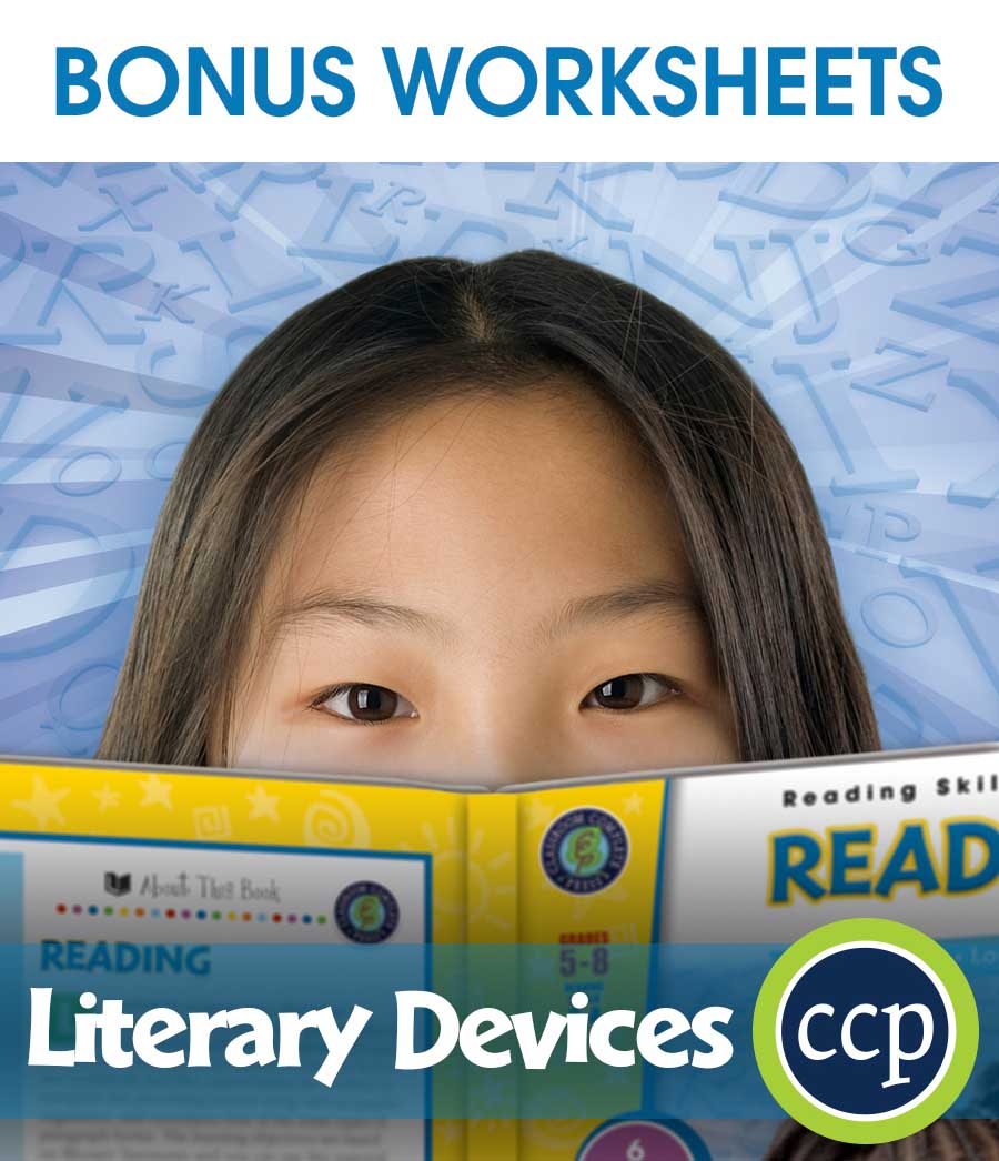 Literary Devices Gr. 5-8 - BONUS WORKSHEETS - eBook