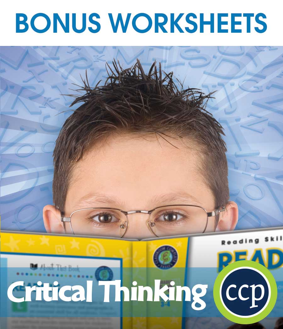 Critical Thinking Gr. 5-8 - BONUS WORKSHEETS - eBook