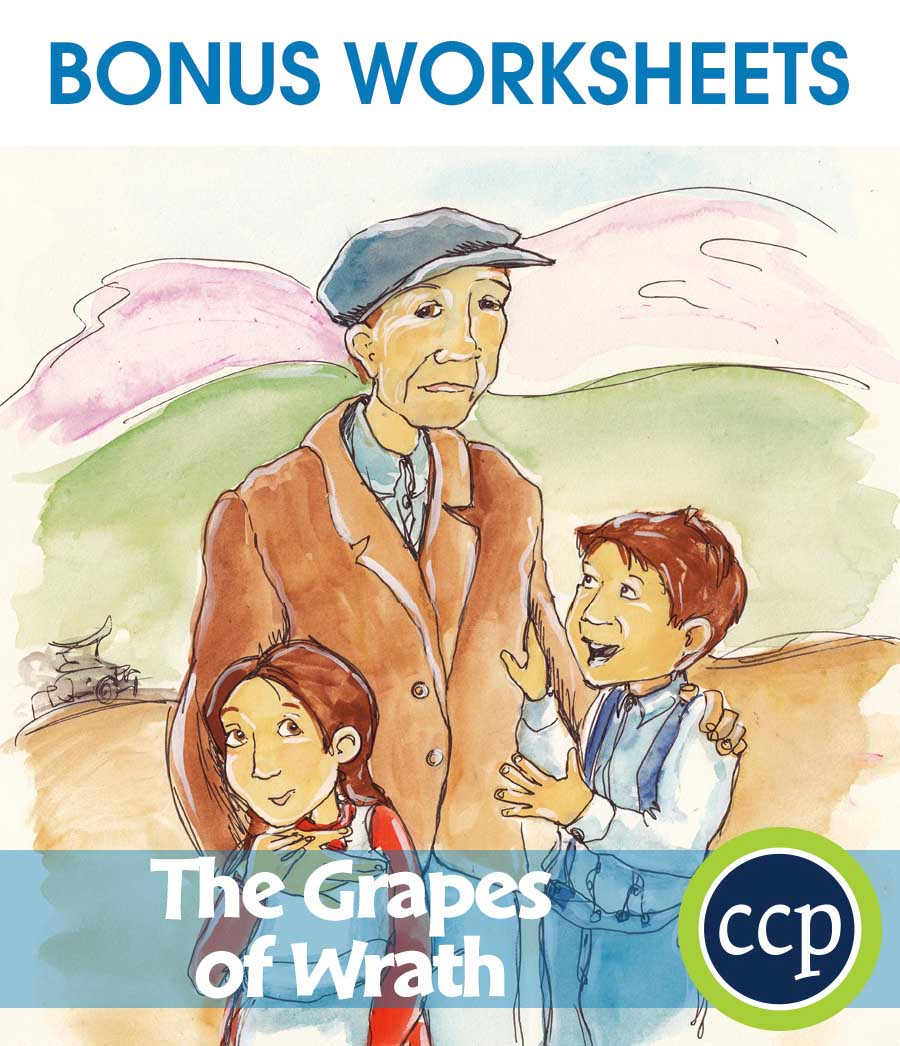The Grapes of Wrath - Literature Kit Gr. 9-12 - BONUS WORKSHEETS - eBook