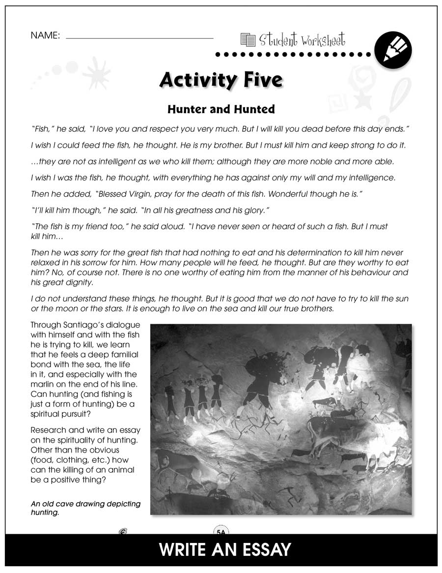 The Old Man and the Sea - Literature Kit Gr. 9-12 - BONUS WORKSHEETS - eBook