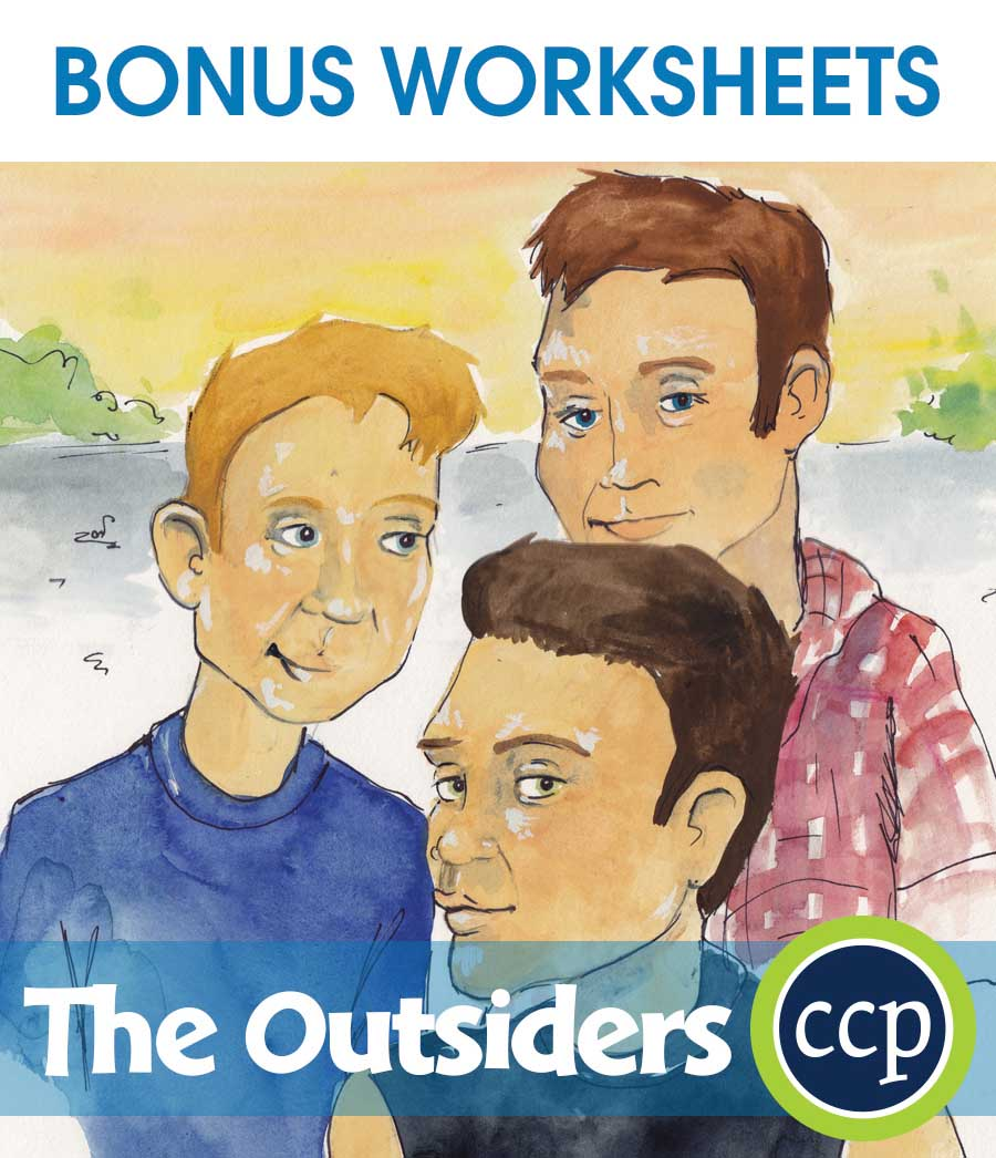 The Outsiders - Literature Kit Gr. 9-12 - BONUS WORKSHEETS - eBook