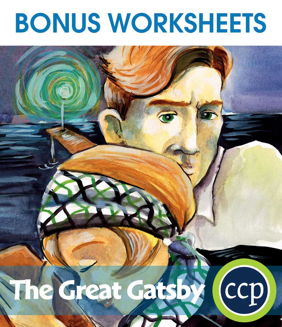 The Great Gatsby - Literature Kit Gr. 9-12 - BONUS WORKSHEETS - eBook