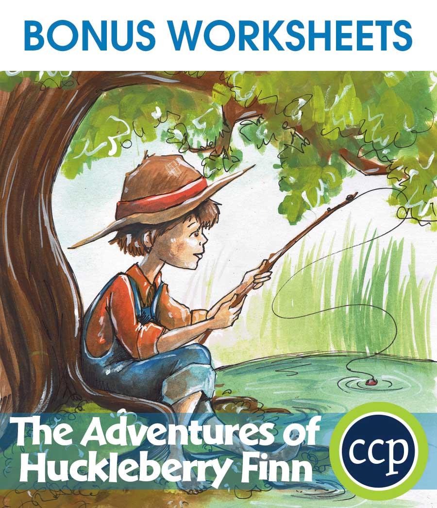 The Adventures of Huckleberry Finn - Literature Kit Gr. 9-12 - BONUS WORKSHEETS - eBook