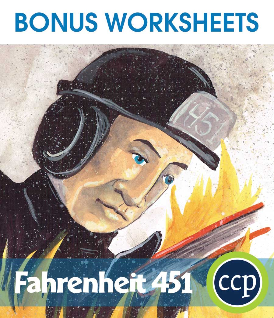 Fahrenheit 451 - Literature Kit Gr. 9-12 - BONUS WORKSHEETS - eBook
