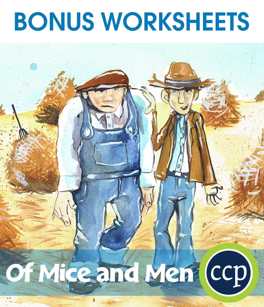 Of Mice and Men - Literature Kit Gr. 9-12 - BONUS WORKSHEETS - eBook