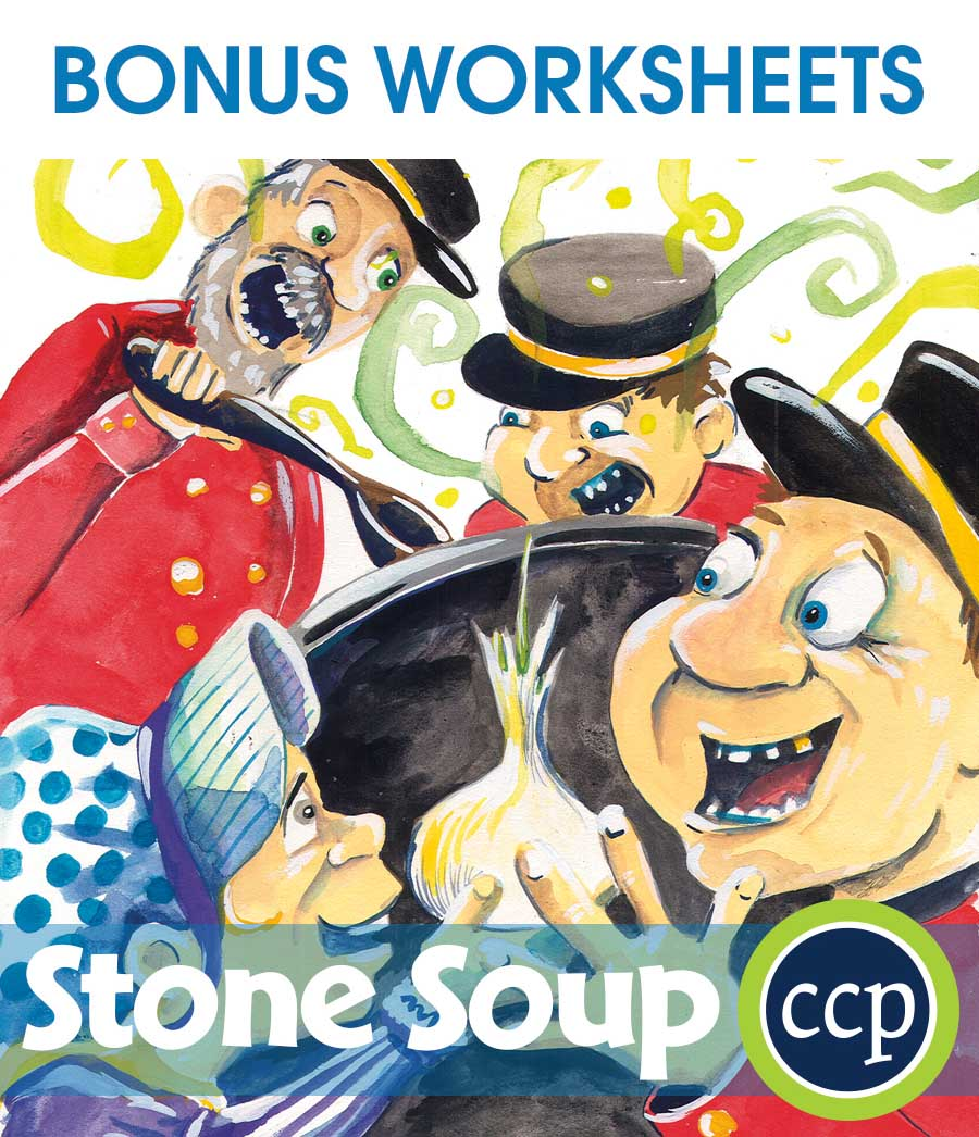 Stone Soup - Literature Kit Gr. 1-2 - BONUS WORKSHEETS - eBook