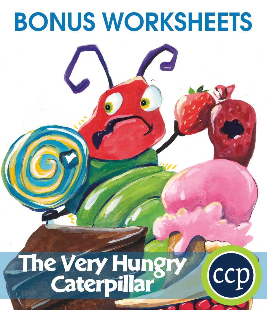The Very Hungry Caterpillar - Literature Kit Gr. 1-2 - BONUS WORKSHEETS - eBook