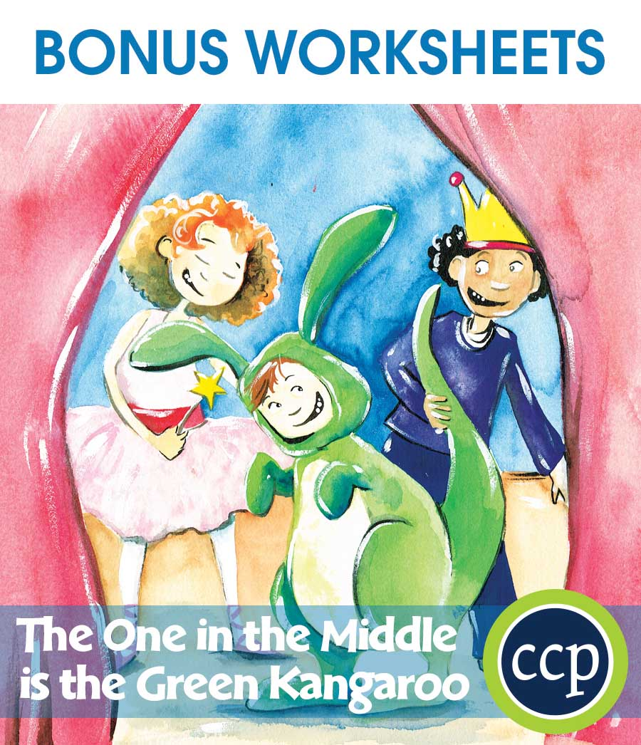 The One in the Middle Is the Green Kangaroo - Literature Kit Gr. 1-2 - BONUS WORKSHEETS - eBook