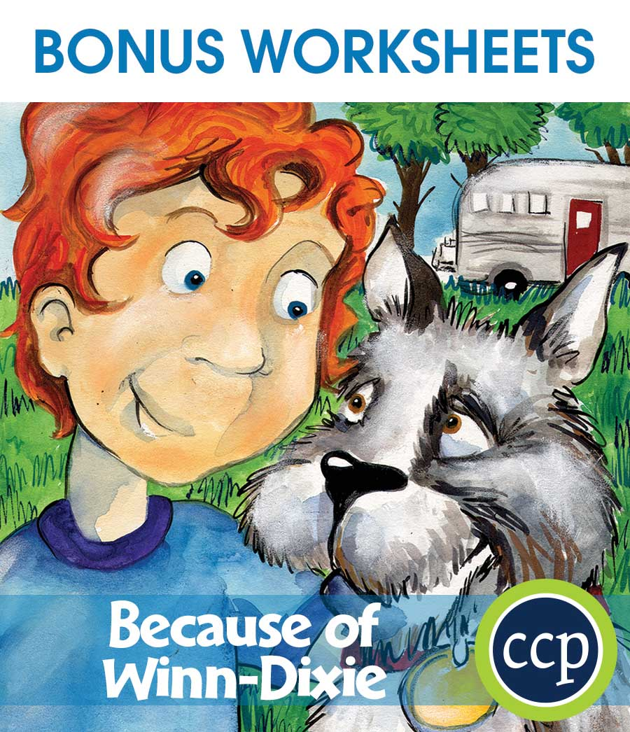 Because of Winn-Dixie - Literature Kit Gr. 3-4 - BONUS WORKSHEETS - eBook