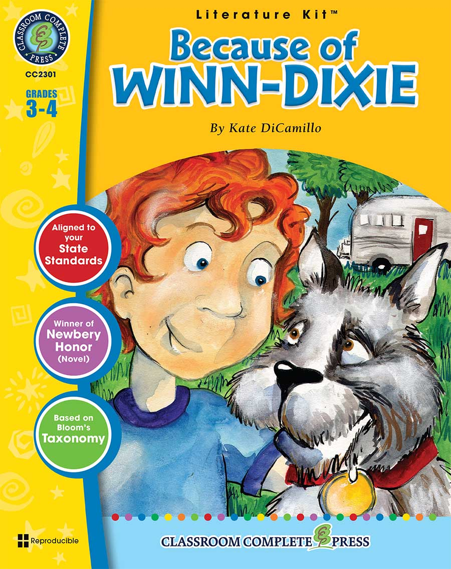 Because of Winn-Dixie - Literature Kit Gr. 3-4 - print book