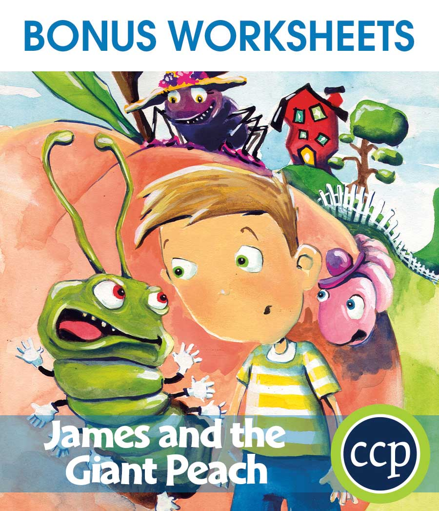 James and the Giant Peach - Literature Kit Gr. 3-4 - BONUS WORKSHEETS - eBook