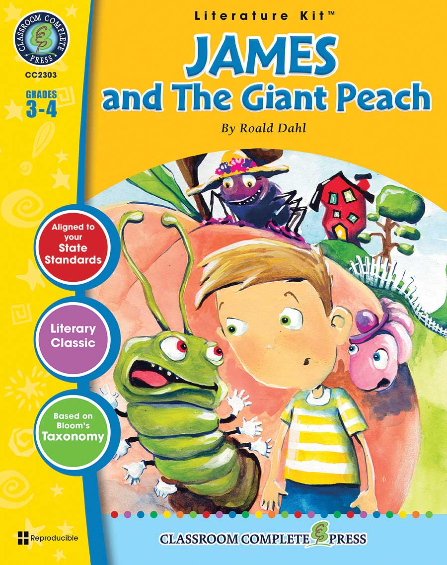 James and the Giant Peach - Literature Kit Gr. 3-4 - print book
