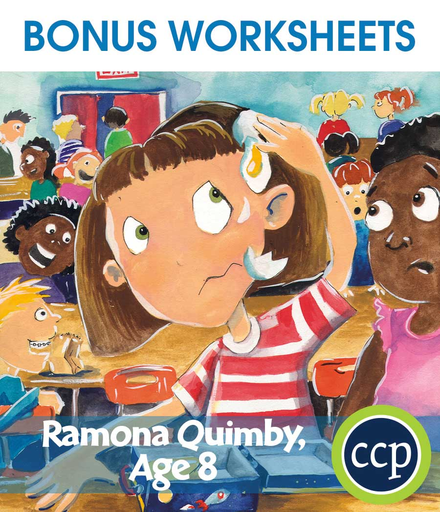 Ramona Quimby, Age 8 - Literature Kit Gr. 3-4 - BONUS WORKSHEETS - eBook
