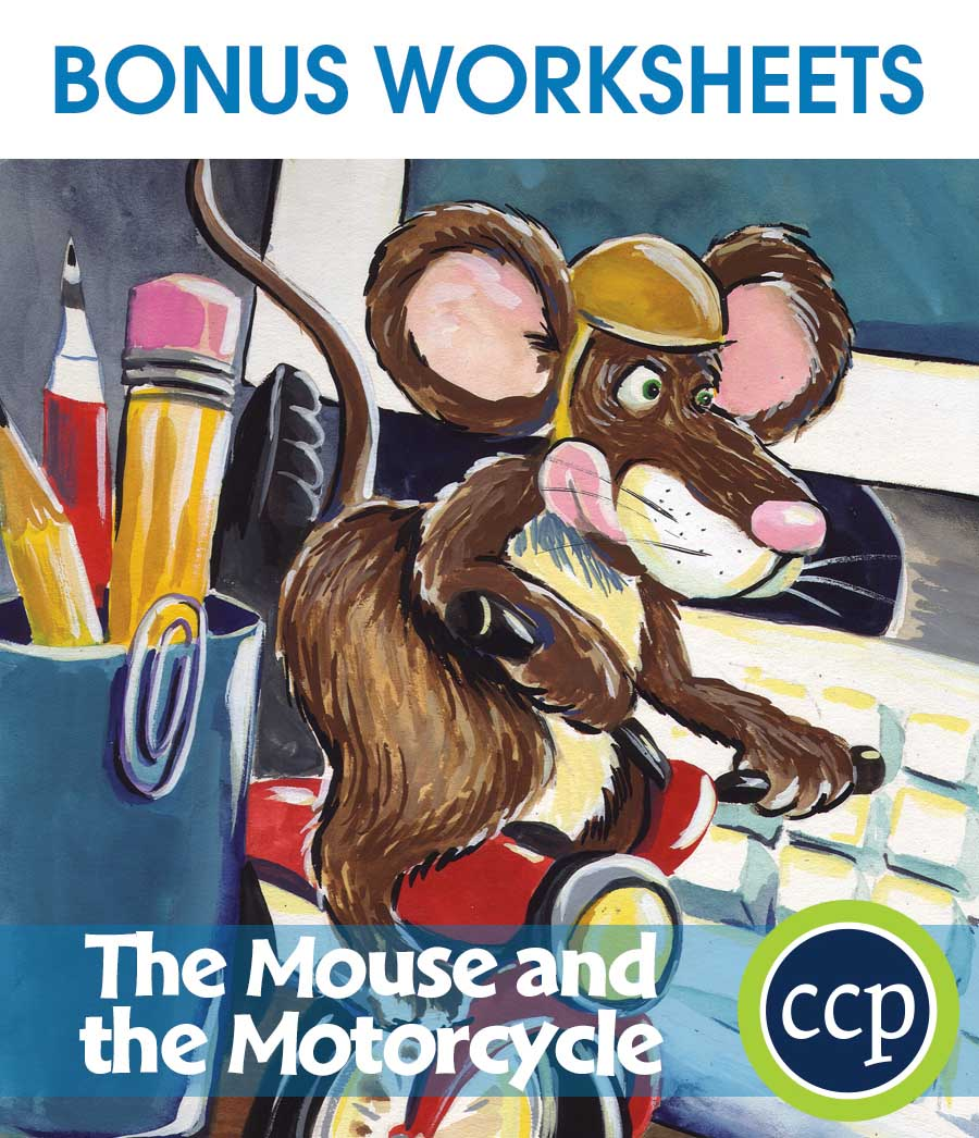 The Mouse and the Motorcycle - Literature Kit Gr. 3-4 - BONUS WORKSHEETS - eBook