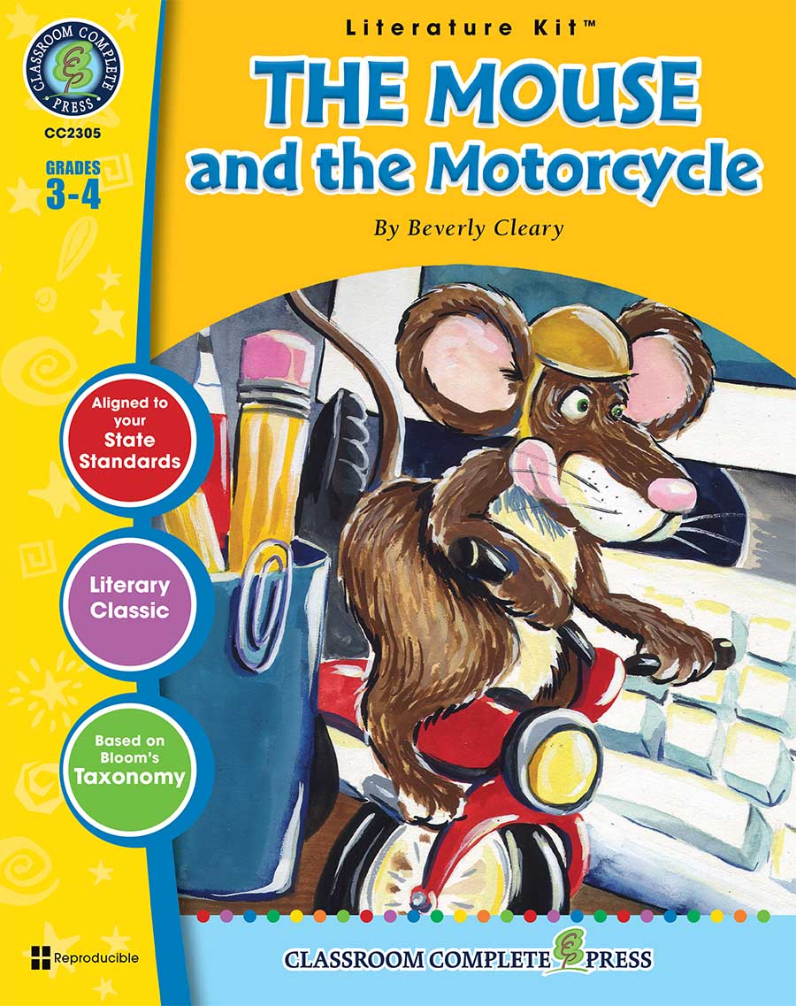 The Mouse and the Motorcycle - Literature Kit Gr. 3-4 - print book