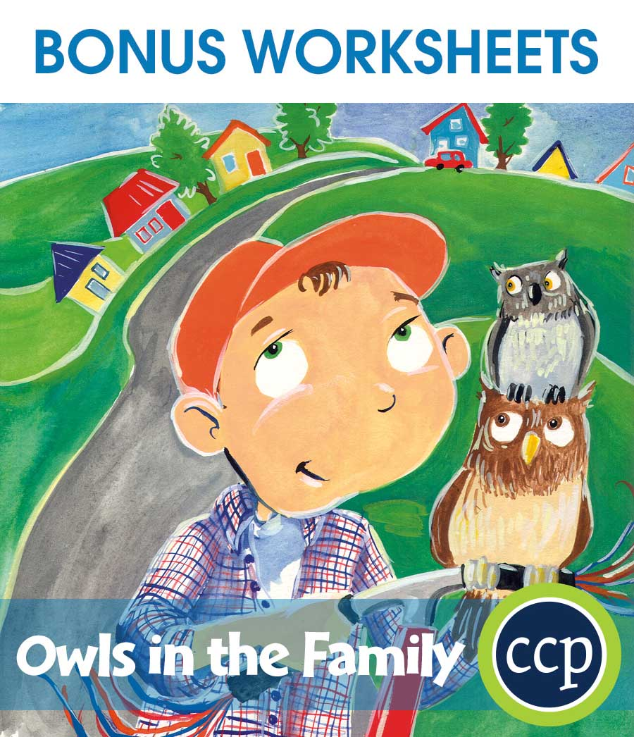 Owls in the Family - Literature Kit Gr. 3-4 - BONUS WORKSHEETS - eBook