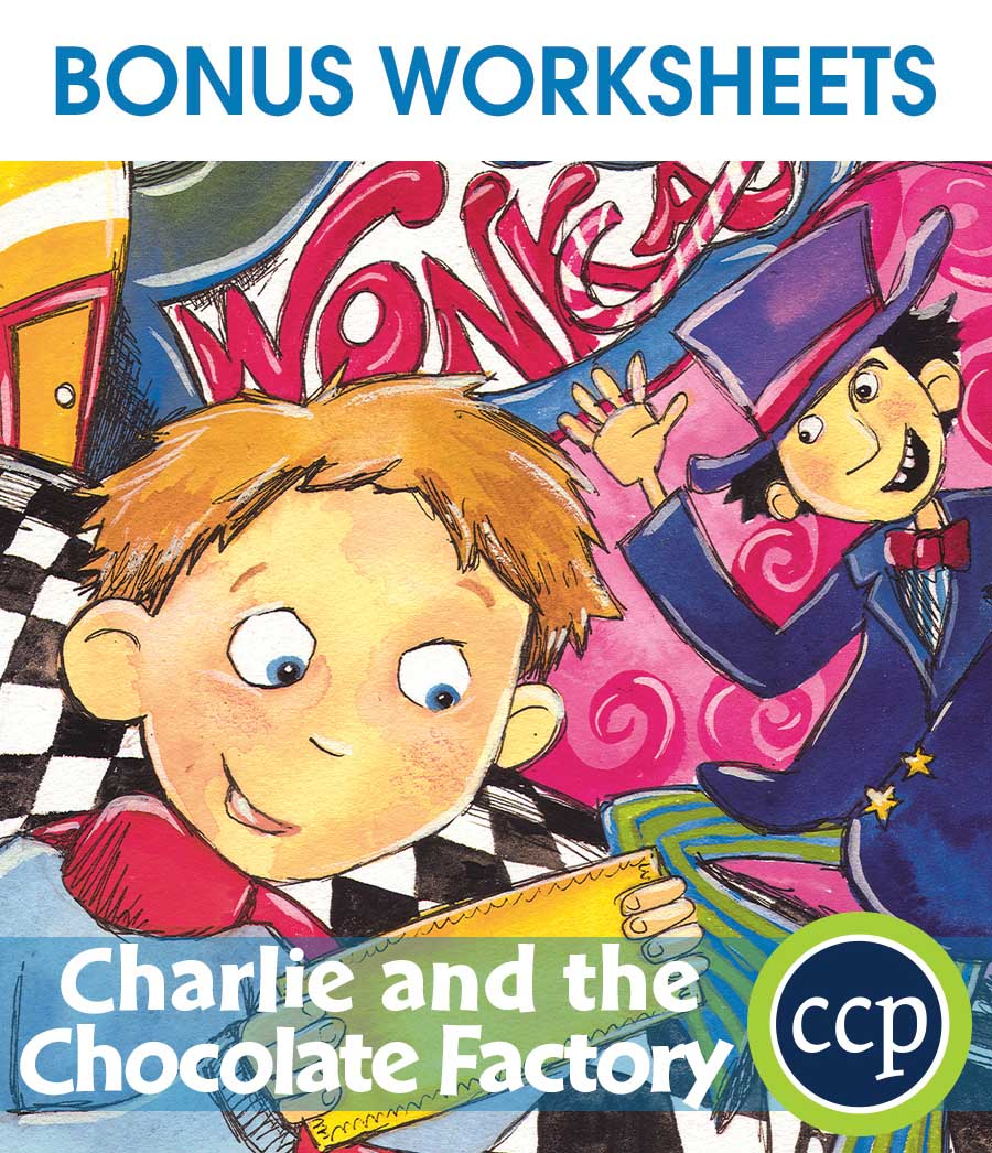 Charlie & The Chocolate Factory - Literature Kit Gr. 3-4 - BONUS WORKSHEETS - eBook