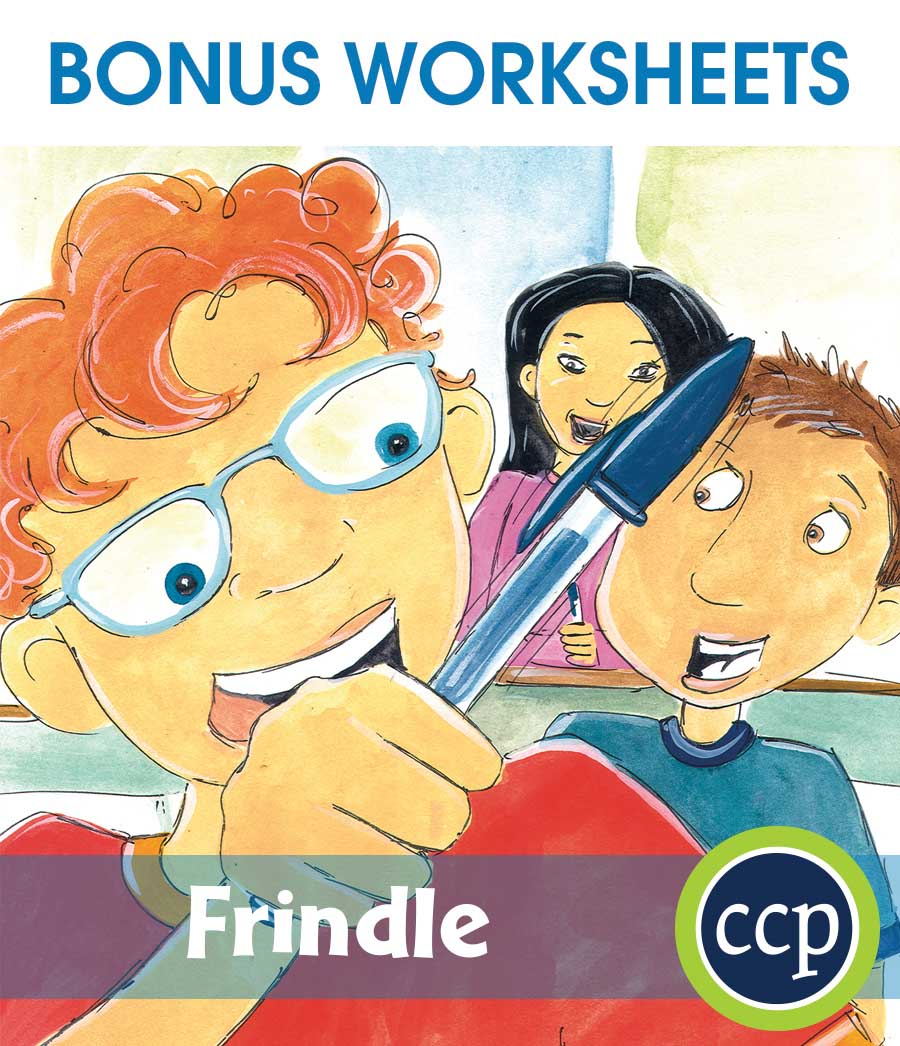 Frindle - Literature Kit Gr. 3-4 - BONUS WORKSHEETS - eBook
