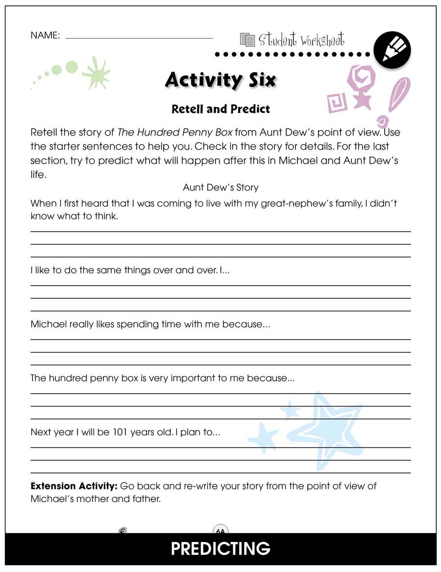 The Hundred Penny Box - BONUS WORKSHEETS - Grades 3 to 4 - eBook
