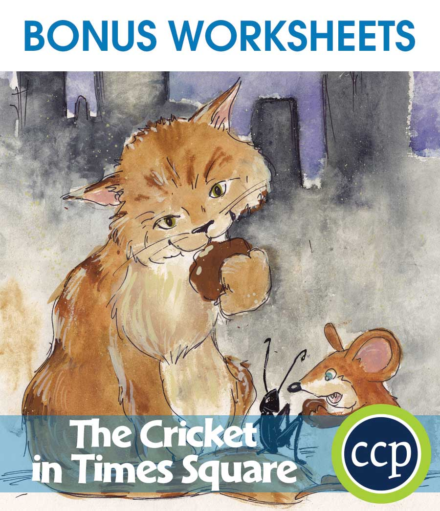 The Cricket in Times Square - Literature Kit Gr. 3-4 - BONUS WORKSHEETS - eBook