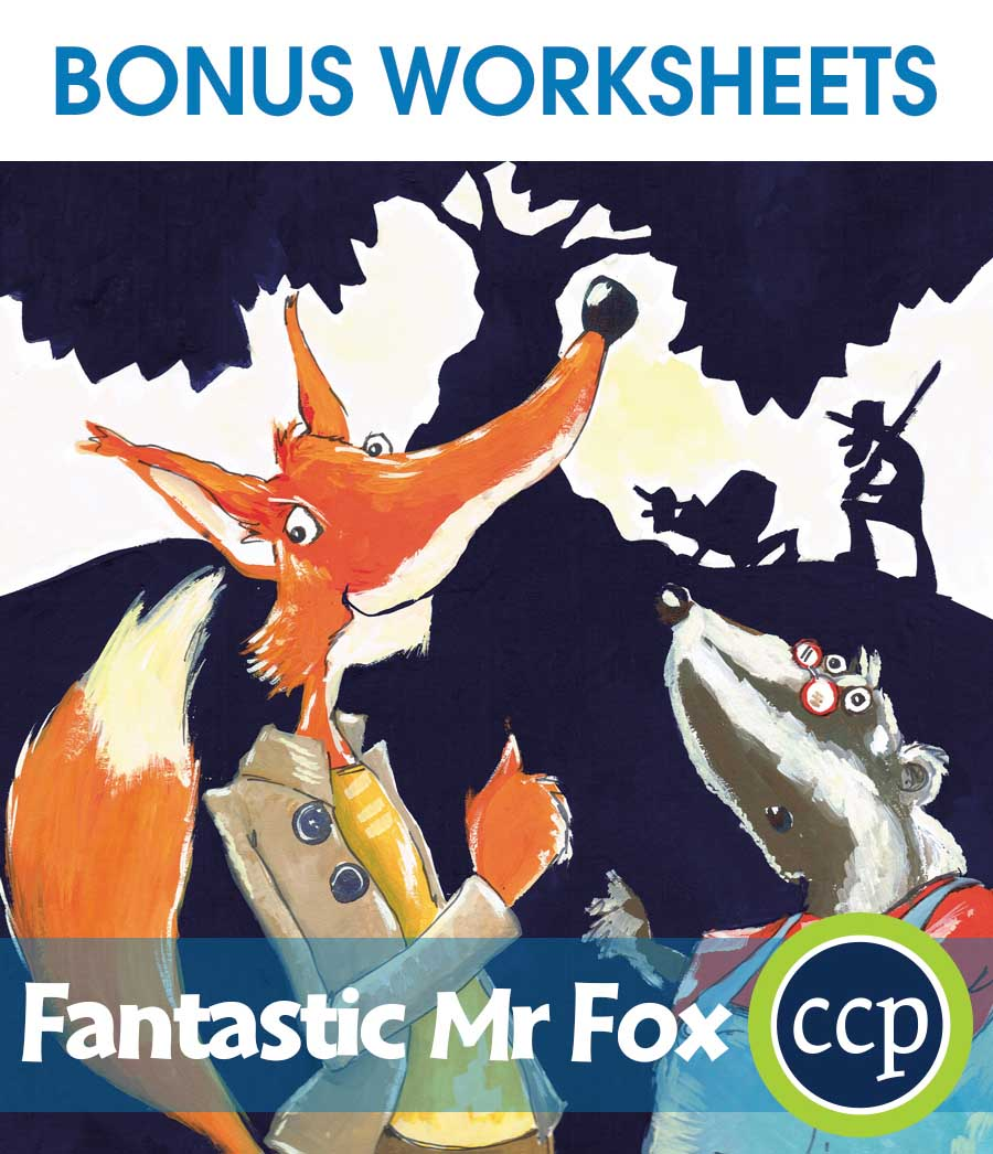 Fantastic Mr Fox - Literature Kit Gr. 3-4 - BONUS WORKSHEETS - eBook